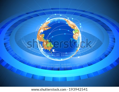 Social network and technology vector background