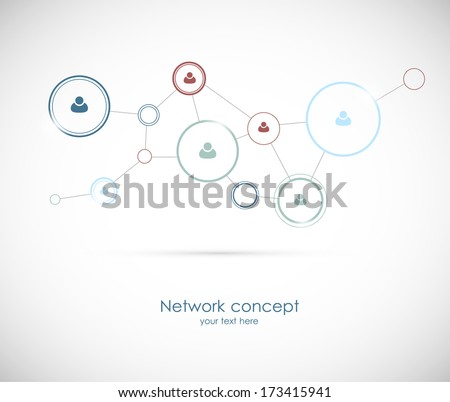 Social network concept - stock vector