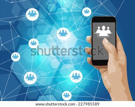 Social network concept.  - stock vector