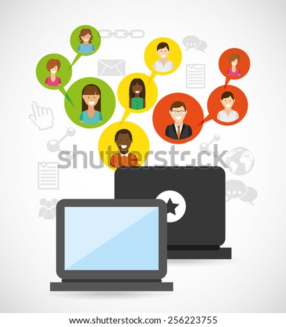 social network design, vector illustration eps10 graphic  - stock vector