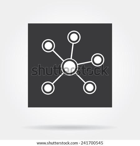 Social network icon - stock vector