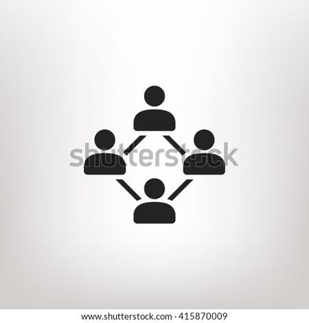 Social network icon vector, social network icon eps, social network icon picture, social network icon flat, social network icon, social network web icon, social network icon art, network icon - stock vector