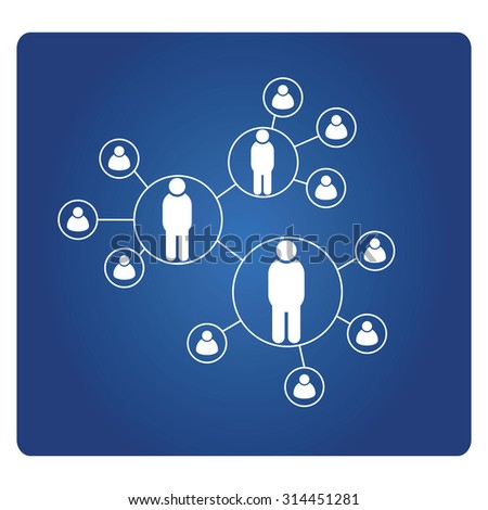 social network, people network - stock vector