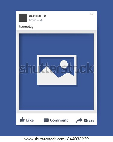 Social network photo frame vector illustration. Facebook. Vector illustration
