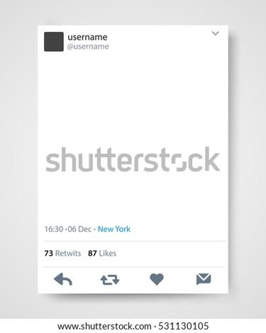 Twitter stockafbeeldingen rechtenvrije afbeeldingen en vectoren social network post frame twitter vector illustration pronofoot35fo Choice Image