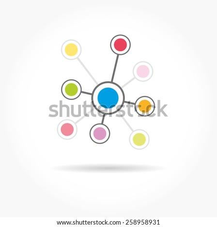 Social network single icon. Global technology or social network.  - stock vector