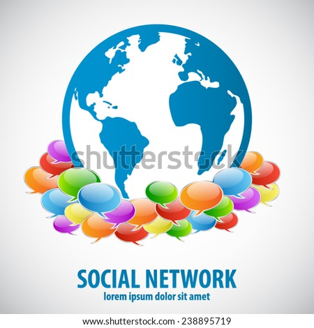 Social network - Social network background - EPS10 vector  - stock vector