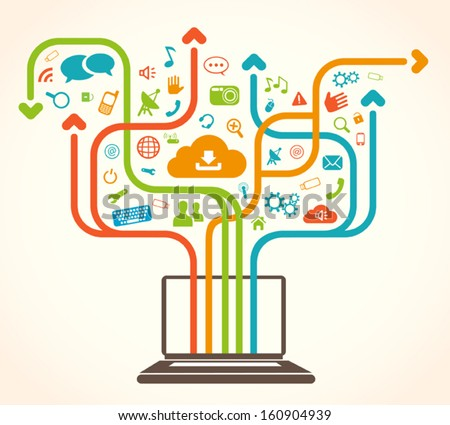 Social Network Tree - stock vector
