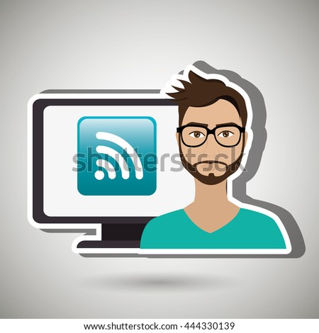 social network user design, vector illustration eps10 graphic