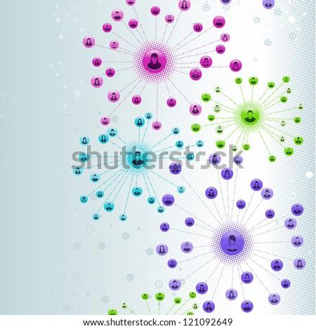 Social Network Web - stock vector