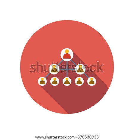 Social networks flat icon on a white background - stock vector