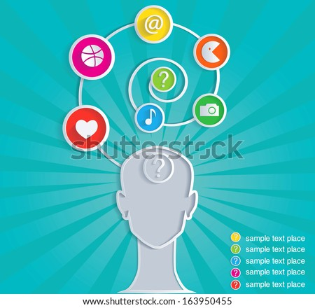 Social symbol of person in mass media network. Infographic. - stock vector