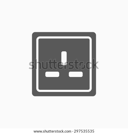 socket icon - stock vector