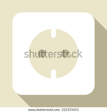 Socket icon on light background  - stock vector