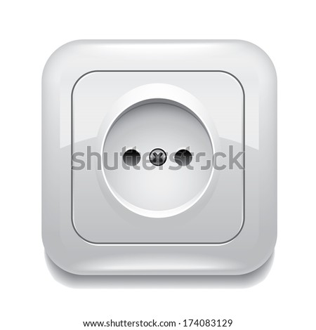 Socket isolated on white photo-realistic vector illustration - stock vector