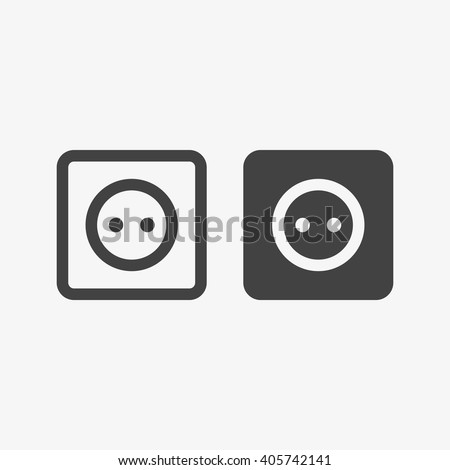 Socket, Socket Icon, Socket Icon Vector, Socket Icon Flat, Socket Icon Sign, Socket Icon App, Socket Icon UI, Socket Icon Art, Socket Icon Logo, Socket Icon Web, Socket Icon Grey, Socket Icon EPS - stock vector