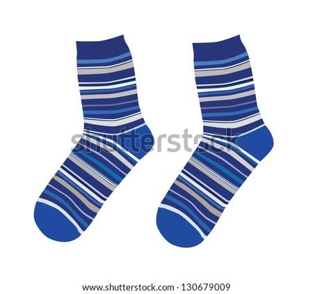 Socks - stock vector