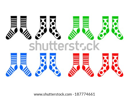 Socks on white background  - stock vector