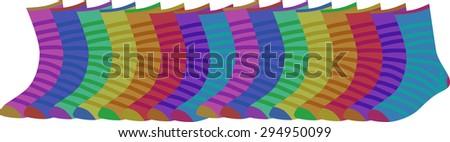 socks vector - stock vector