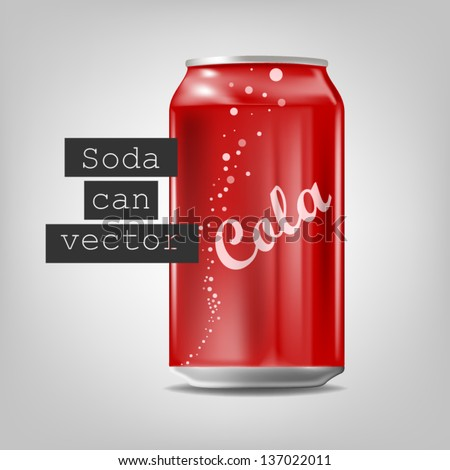 Soda can - stock vector