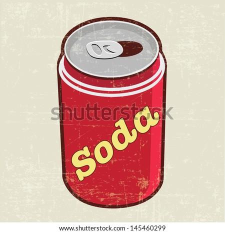 soda can - stock vector