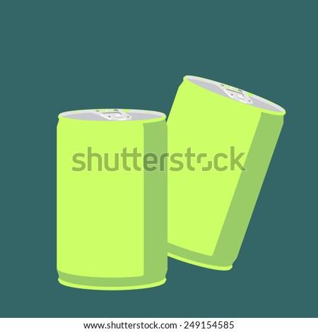 Soda can vector on dark background, Blank soda can design - stock vector