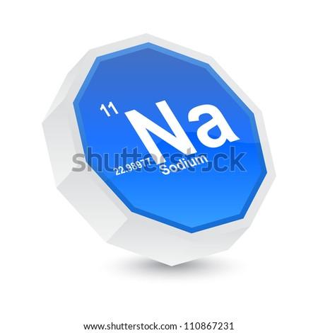 sodium button - stock vector