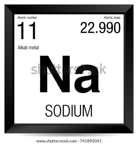 Sodium Symbol Element Number 11 Periodic Stock Photo Photo Vector