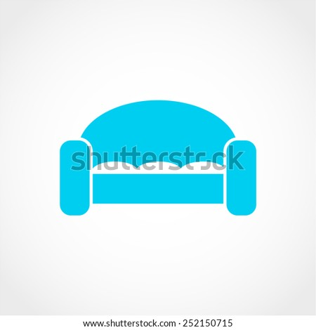 Sofa Icon Isolated on White Background - stock vector