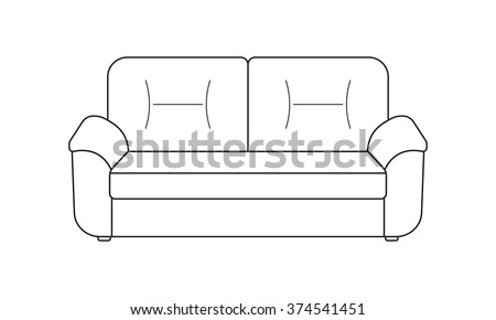 Outline sofa icons stock images royalty free images for Living room outline