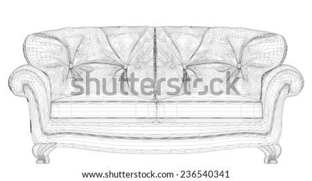 Sofa Vector 21 - stock vector