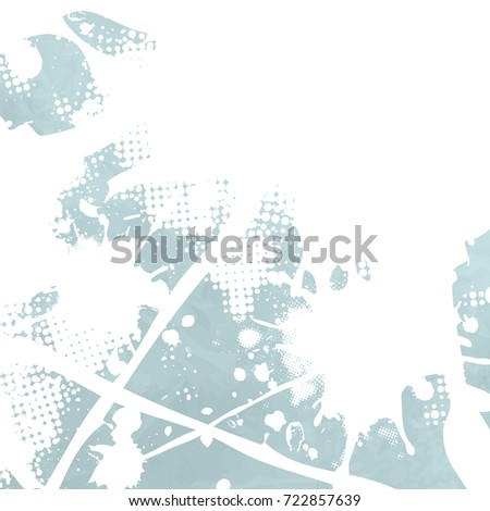 Soft abstract background in blue watercolor with white splash texture