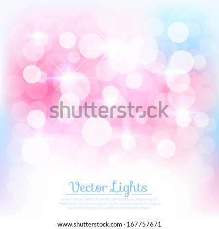 Soft background with lights. Vector illustration for your design - stock vector