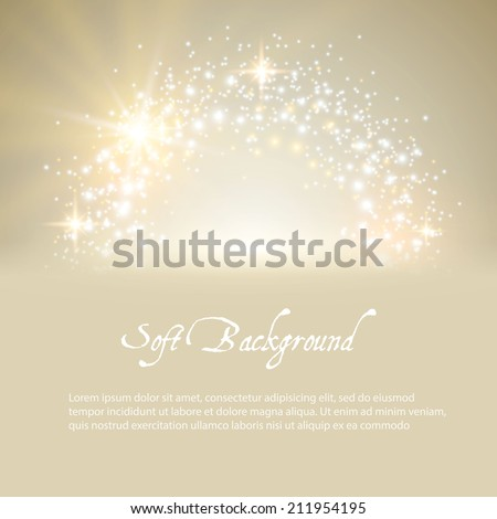 Soft background with stars and lights. Vector illustration - stock vector