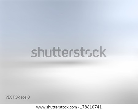 Soft blue background horizon - stock vector