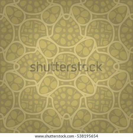 Soft Brown Yellow Beige Geometrical Seamless Pattern In Carpet Style Vector Background Modern