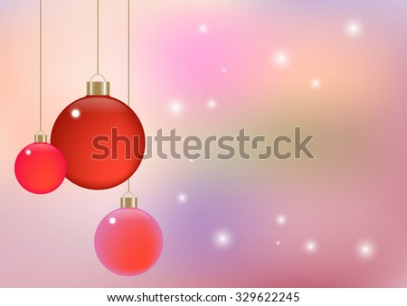 soft color abstract and ball background, Vector illustration can use christmas or new year party theme