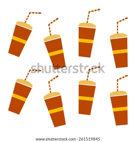 soft drink - restaurant theme - stock vector