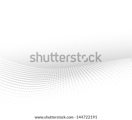 soft halftone background, wavy grey abstract background - stock vector