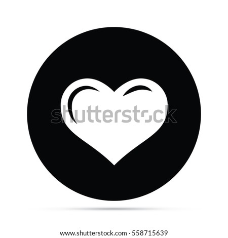 Soft Heart Icon Circle