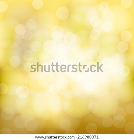 Soft in autumn colors abstract background with bokeh effect. Vector illustration, eps10. - stock vector