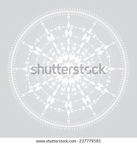 soft light white sharp rhombus geometrical ornament. vector illustration - stock vector