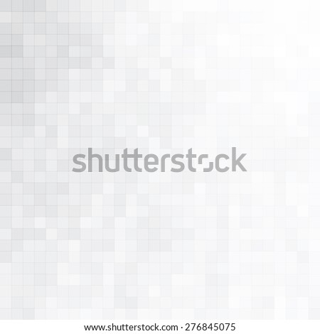 Soft minimal halftone background with gray mosaic tiles - stock vector