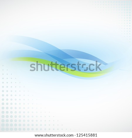 Soft Wave Background - stock vector