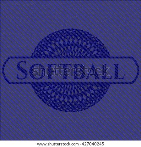 Softball with jean texture