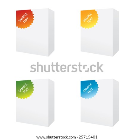software boxes - stock vector