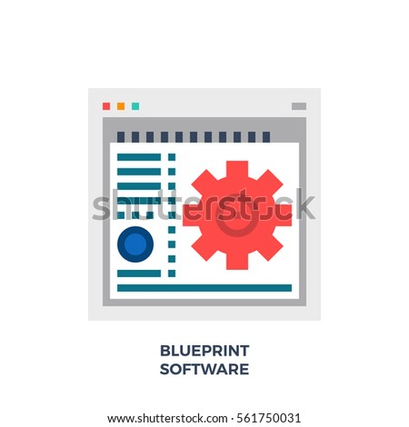 Software blueprint new style flat icon stock vector 561750031 software for blueprint new style flat icon material design illustration concept high quality malvernweather Image collections