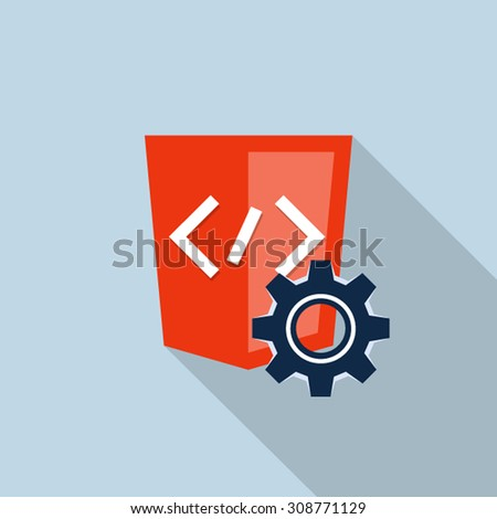 Software maintenance - stock vector