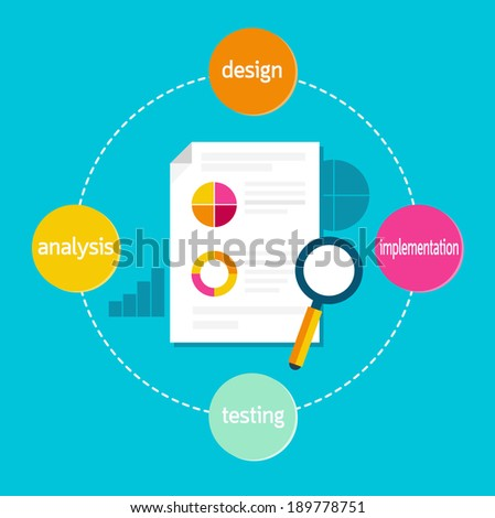 Software process - stock vector