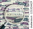 SOFTWARE. Word collage. Vector seamless illustration. - stock photo